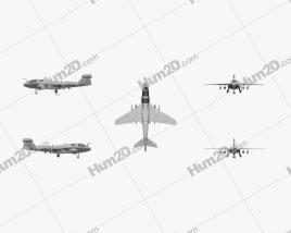 Northrop Grumman EA-6B Prowler Aircraft clipart