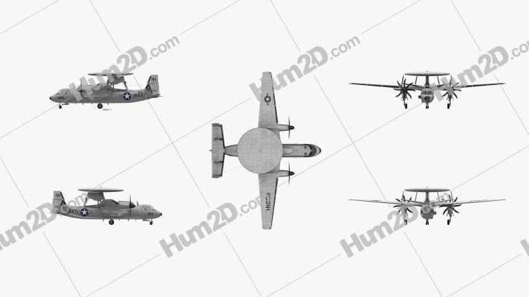 Northrop Grumman E-2 Hawkeye Aircraft clipart