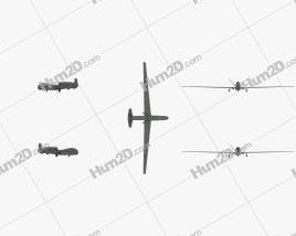 Northrop Grumman RQ-4 Global Hawk Aeronave clipart