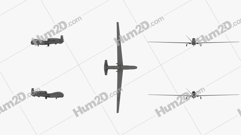 Northrop Grumman RQ-4 Global Hawk Clipart Image