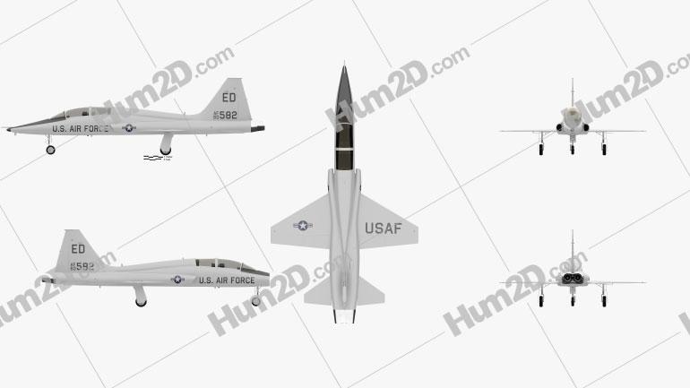 Northrop T-38 Talon Aircraft clipart