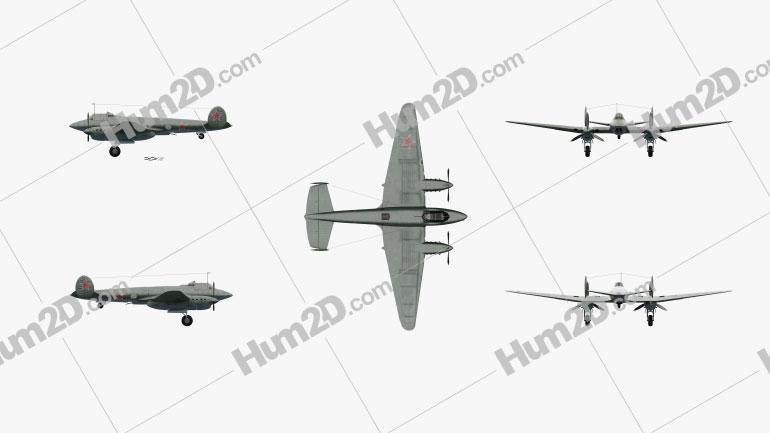 Petlyakov Pe-2 Flugzeug clipart