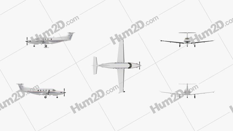 Pilatus PC-12 Aircraft clipart