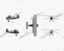 Polikarpov I-15 Aircraft clipart