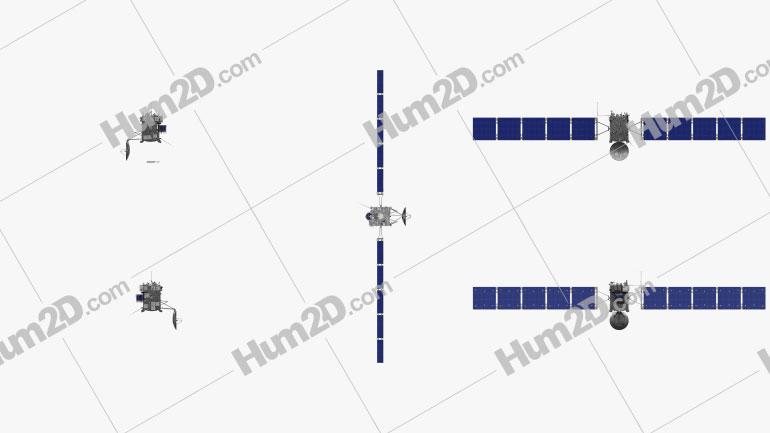 Rosetta space probe Aircraft clipart