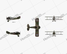 SPAD S.XIII Aircraft clipart
