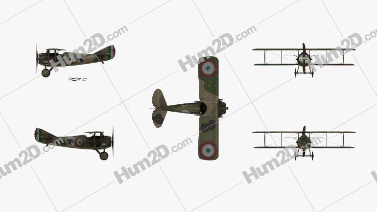 SPAD S.XIII Flugzeug clipart