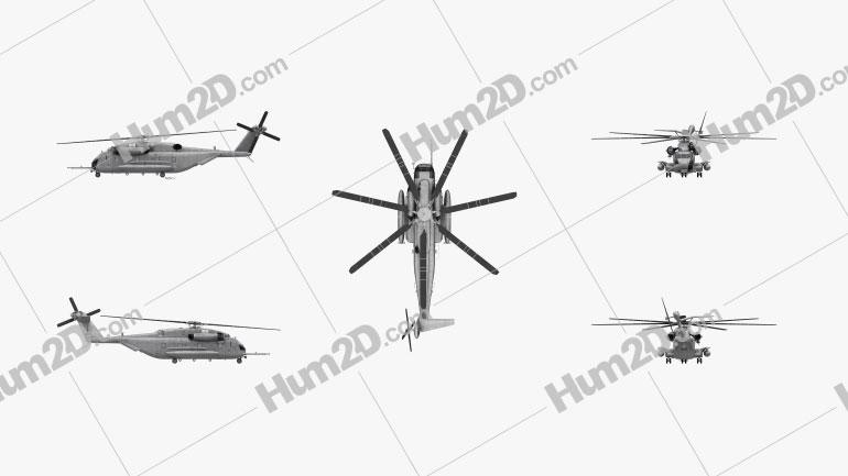 Sikorsky CH-53E Super Stallion Helicóptero de Carga Aeronave clipart