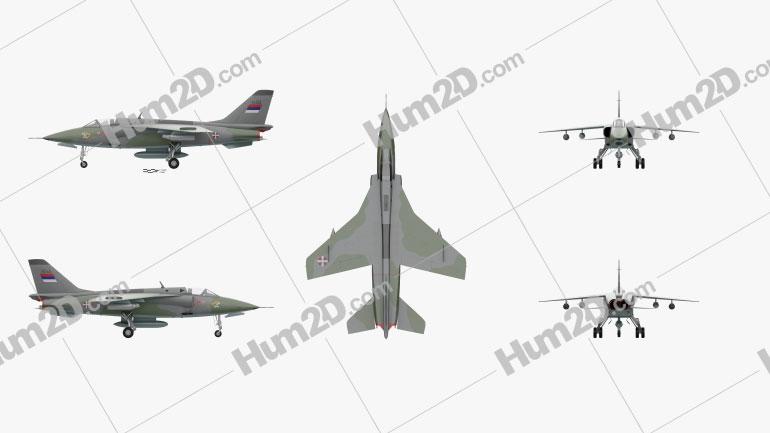 Soko J-22 Orao Aircraft clipart