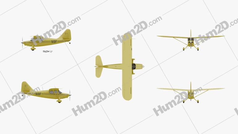 Stinson 108 Aircraft clipart