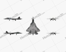 Sukhoi Su-57 (PAK FA) Clipart