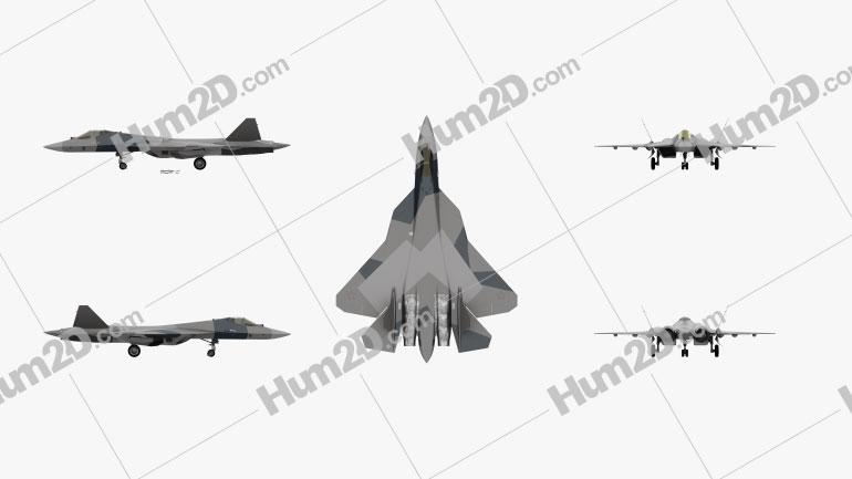 Sukhoi Su-57 (PAK FA) Aircraft clipart