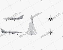 Sukhoi Su-24 Aircraft clipart