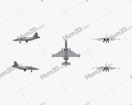 Sukhoi Su-25 Flugzeug clipart