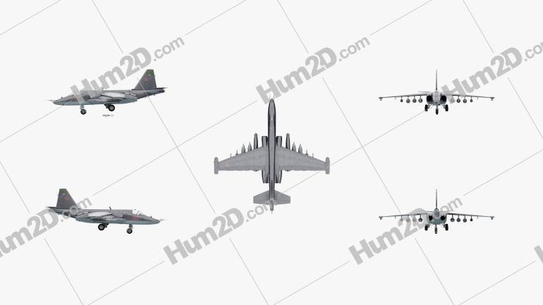 Sukhoi Su-25 Clipart Image