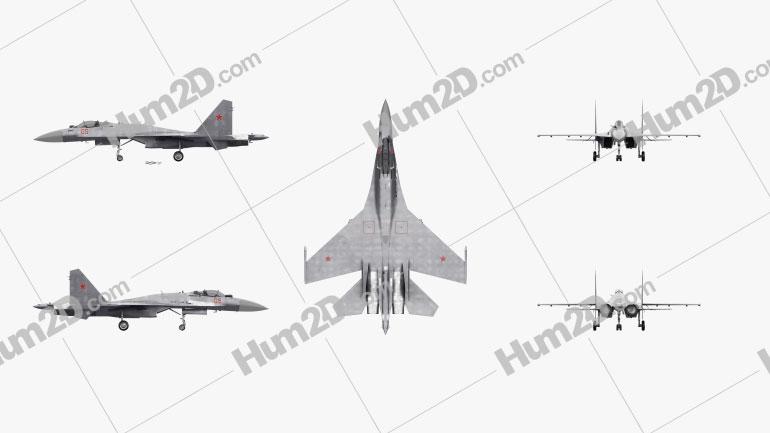 Sukhoi Su-35 Aircraft clipart