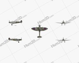 Supermarine Spitfire Aircraft clipart