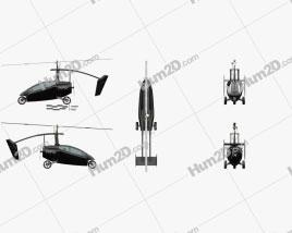PAL-V ONE Flying Car Aircraft clipart