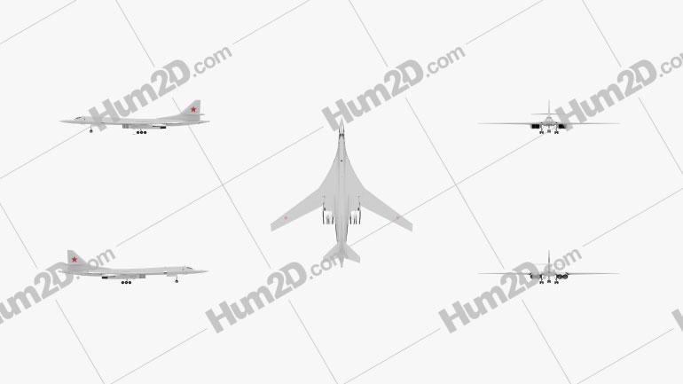 Tupolev Tu-160 Aircraft clipart