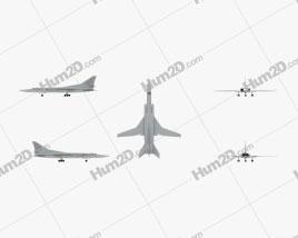 Tupolev Tu-22M Flugzeug clipart