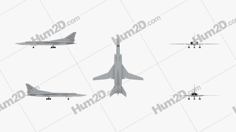 Tupolev Tu-22M Aircraft clipart