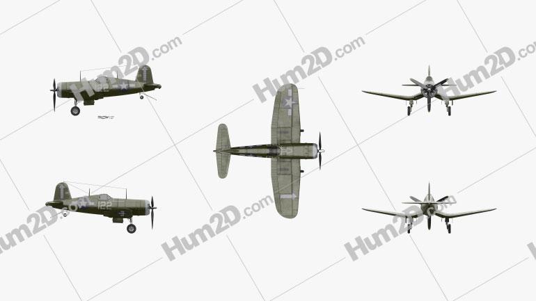 Vought F4U Corsair Aircraft clipart