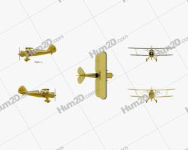 WACO Classic YMF-5C Aircraft clipart