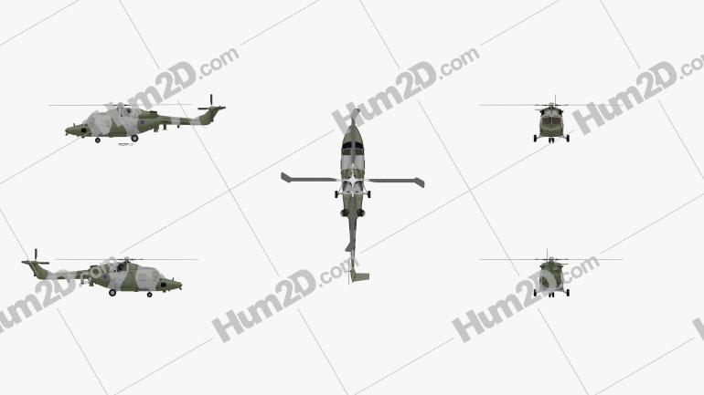 Westland Lynx AH 9 Clipart Image