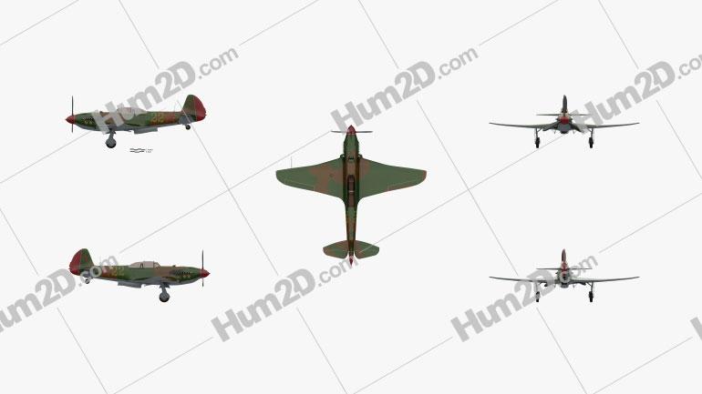 Yakovlev Yak-9 Aircraft clipart