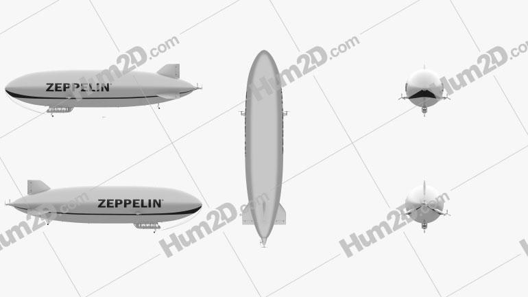 Zeppelin NT Clipart Image