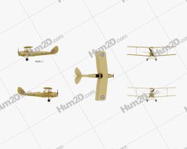 de Havilland DH.82 Tiger Moth Clipart