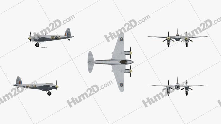 de Havilland DH.98 Mosquito FB MK VI Aircraft clipart