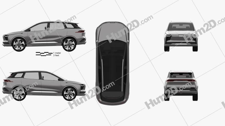Aiways U5 ION 2018 car clipart