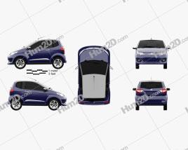 Aixam City Premium 2014 car clipart