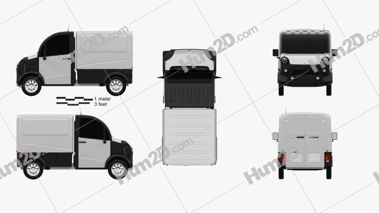 Aixam D-Truck Van 2018 clipart