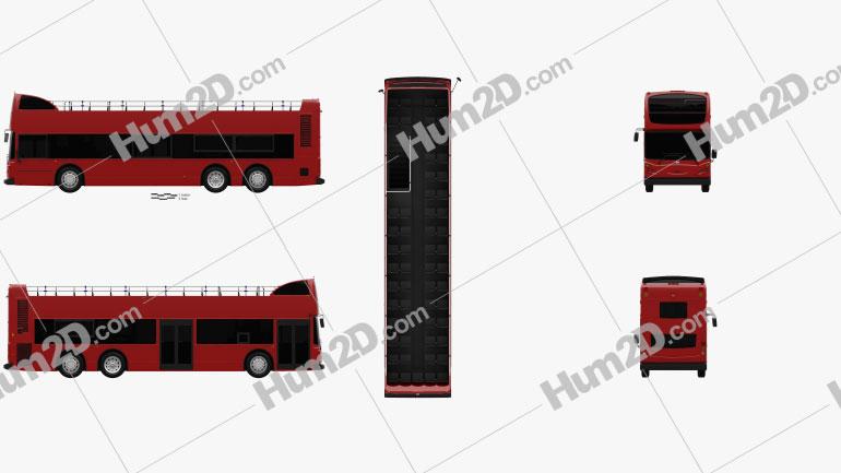 Alexander Dennis Enviro500 Open Top Bus 2005 clipart