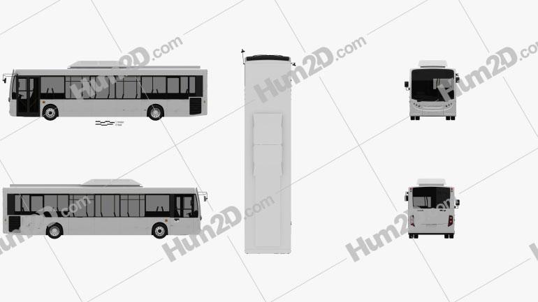 Alexander Dennis Enviro200H Bus 2016 clipart