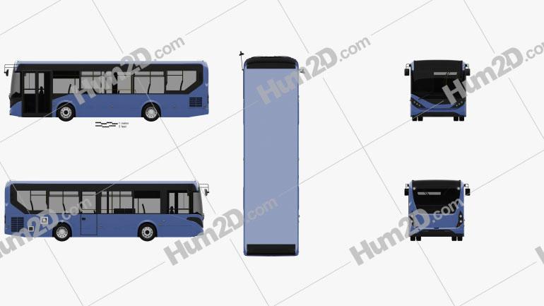 Alexander Dennis Enviro200 Bus 2016 Clipart Image