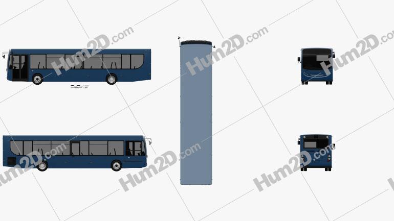 Alexander Dennis Enviro300 Bus 2016 clipart