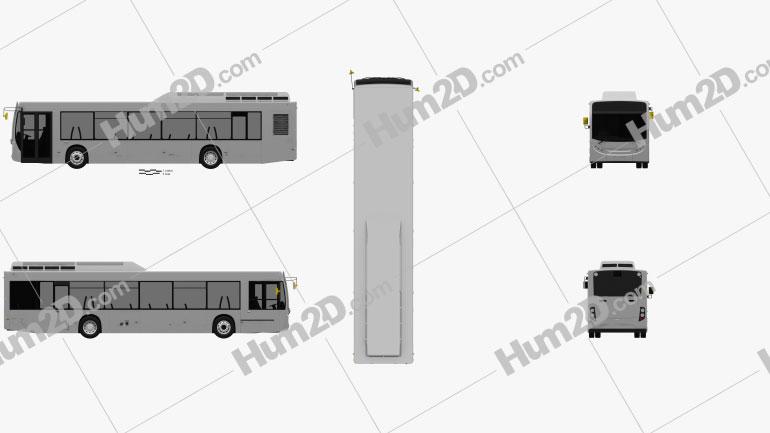 Alexander Dennis Enviro350H Bus 2016 Clipart Image