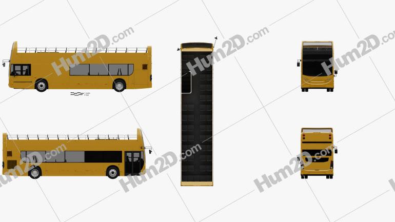 Alexander Dennis Enviro400 Open Top Bus 2015 clipart