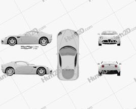 Alfa Romeo 8C Competizione 2007 car clipart