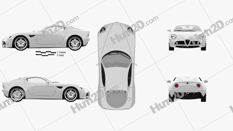 Alfa Romeo 8C Competizione 2007 Clipart Image
