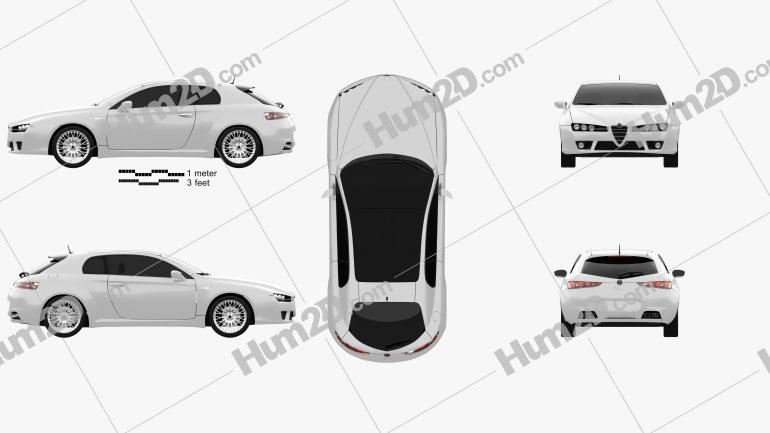 Alfa Romeo Brera 2011 Clipart Image