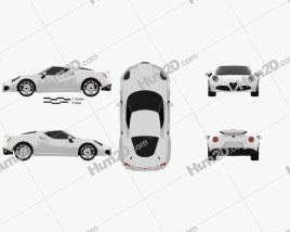 Alfa Romeo 4C 2014 car clipart