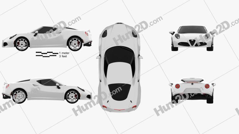 Alfa Romeo 4C 2014 Clipart