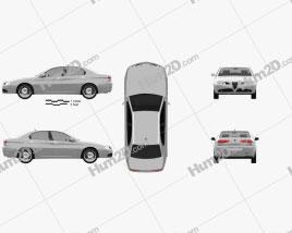 Alfa Romeo 166 2003 car clipart