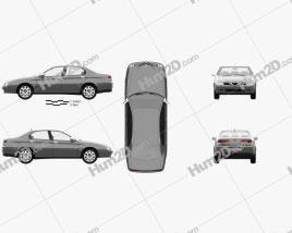 Alfa Romeo 166 1998 Clipart