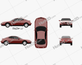 Alfa Romeo GTV 1995 Clipart