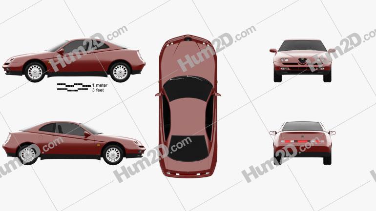 Alfa Romeo GTV 1995 Imagem Clipart